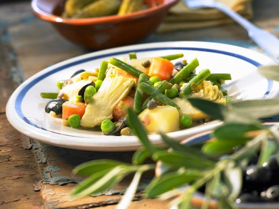 Pikanter Gemüsesalat