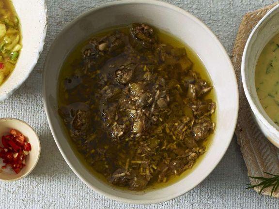 Pikantes Olivendressing
