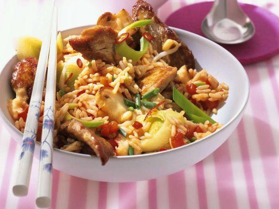 Pikantes Reisgericht