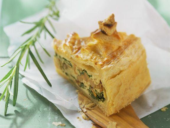 Pilz-Ricotta-Pie