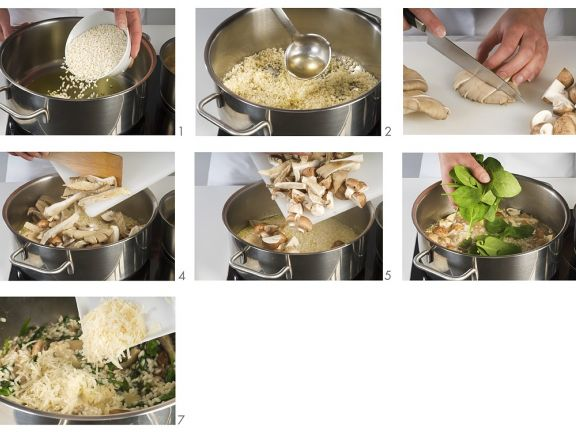 Pilz-Spinat-Risotto