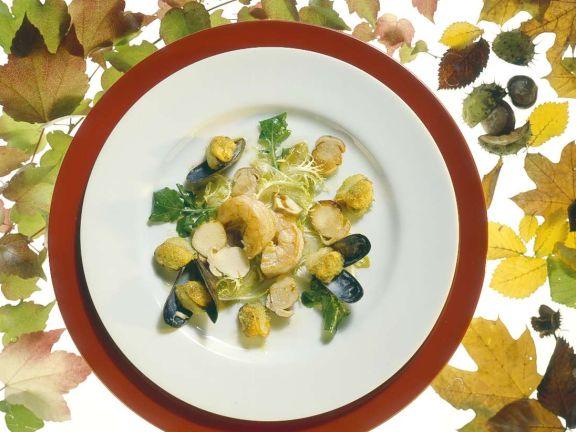 Pilze mit Shrimps