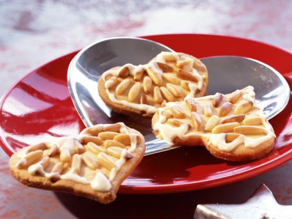 Pinienkern-Vanille-Herzen