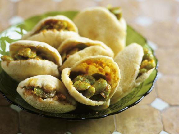 Pita-Taschen mit Bohnensalat