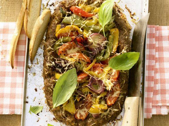 Pizza-Hackbraten mit Gemüse