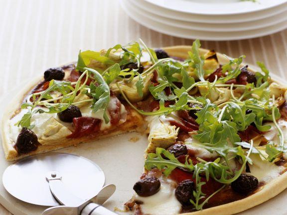 Pizza mit Artischocken