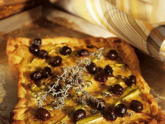 Pizza mit Oliven