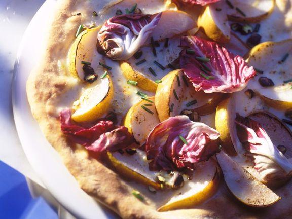 Pizza mt Birne