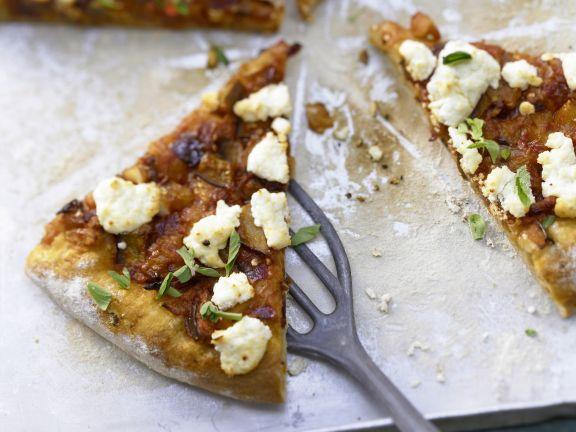 pizza mit scharfem auberginen ragout rezept eat smarter. Black Bedroom Furniture Sets. Home Design Ideas