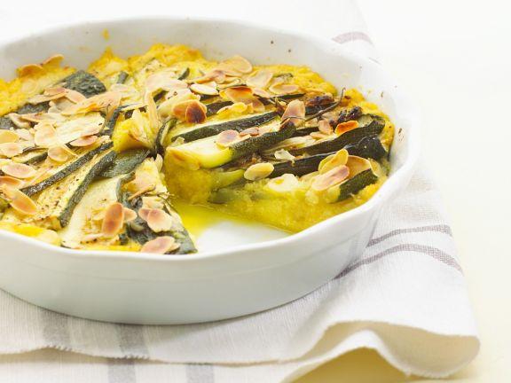 Polenta-Zucchinikuchen