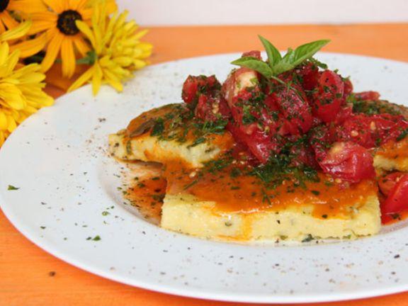 Polentaschnitten mit Tomatensalat für den Thermomix