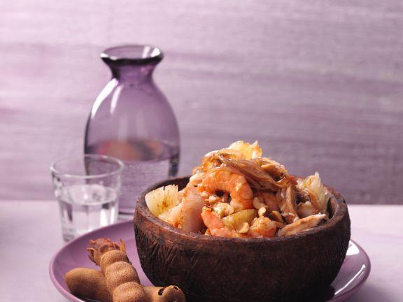 Pomelo-Hähnchen-Salat mit Tamarinden-Dressing