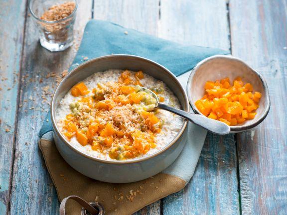 Porridge mit Kürbiskompott