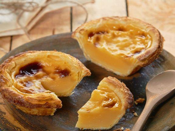 Portugiesische Puddingtörtchen (Pastel de Nata)
