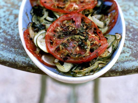 Provenzalisches, gebackenes Gemüse
