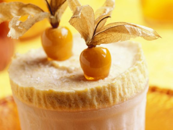 Pudding mit Physalis