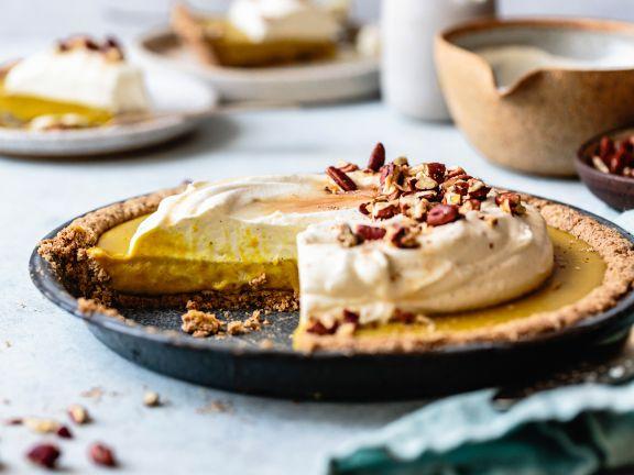 Pumpkin Pie mit Haselnussmehl