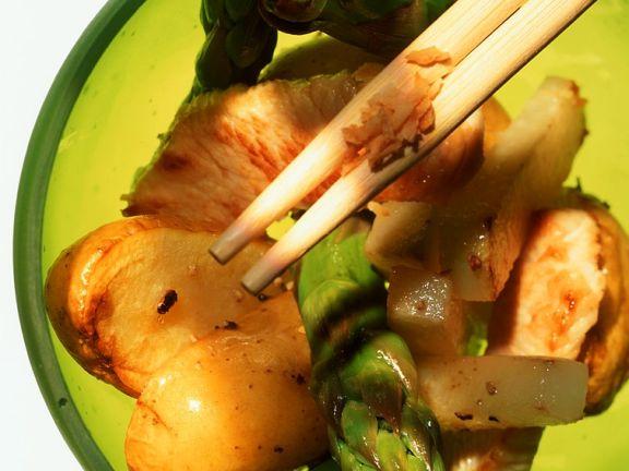 Pute mit Gemüse aus dem Wok
