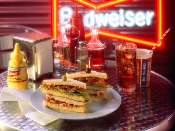 Puten-Bacon-Sandwich