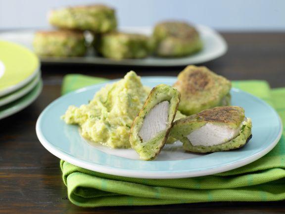 Puten-Nuggets im Zucchini-Mantel