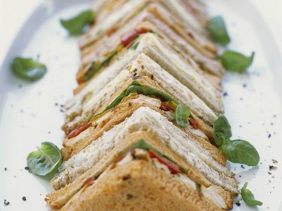 Puten- und Käse-Sandwiches