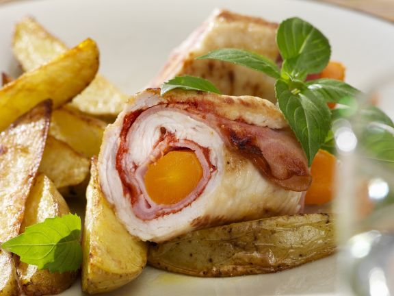 Putenrouladen mit Country Potatoes