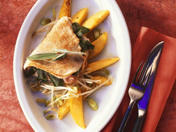 Putenschnitzel mit Mango