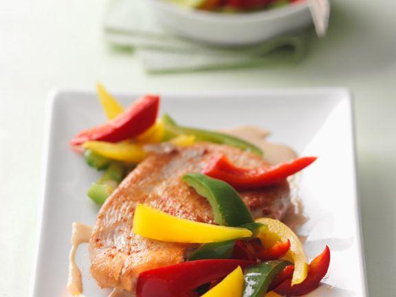 Putenschnitzel mit Paprika