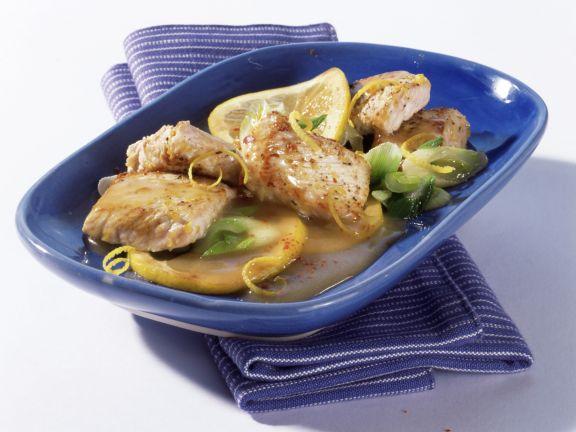 Putenschnitzel mit Zitronensauce
