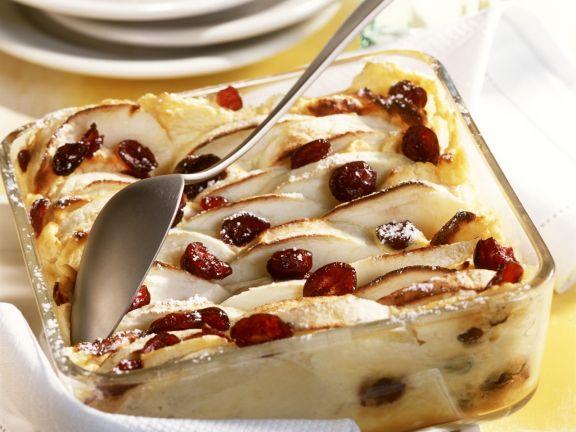 Quark-Apfel-Gratin mit Cranberries