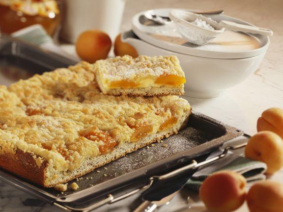 Quark-Aprikosen-Kuchen mit Streuseln