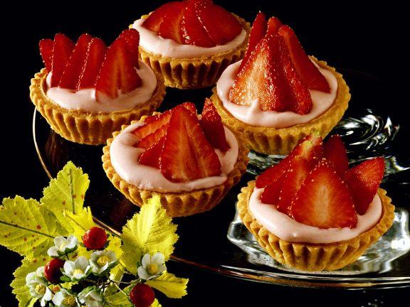 Quark-Erdbeer-Torteletts