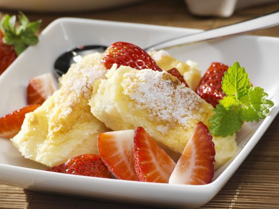 Quark-Gratin mit Erdbeeren