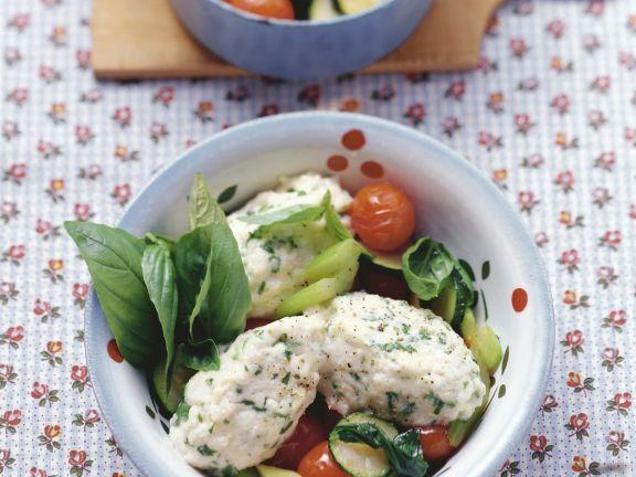 Quarkklößchen mit Gemüse