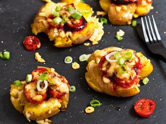 Quetschkartoffeln mit Gemüse
