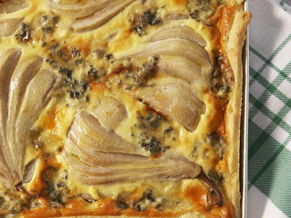 Quiche mit Birnen und Gorgonzola
