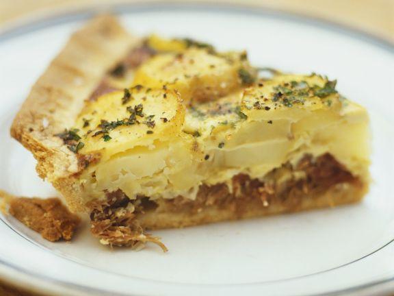 Quiche mit Kartoffeln und Entenconfit