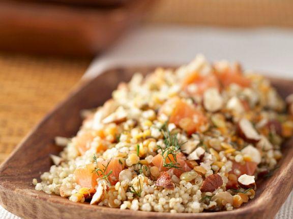Quinoa-Lachs-Salat mit Dill