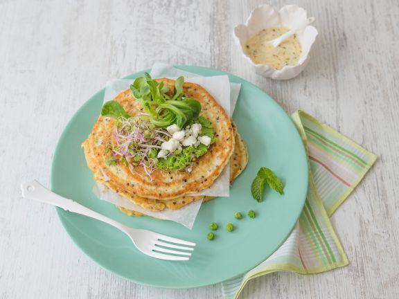 Quinoa-Pfannkuchen mit Feta
