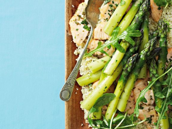 Quinoasalat Mit Gemuse Und Fisch Vom Grill Rezept Eat Smarter