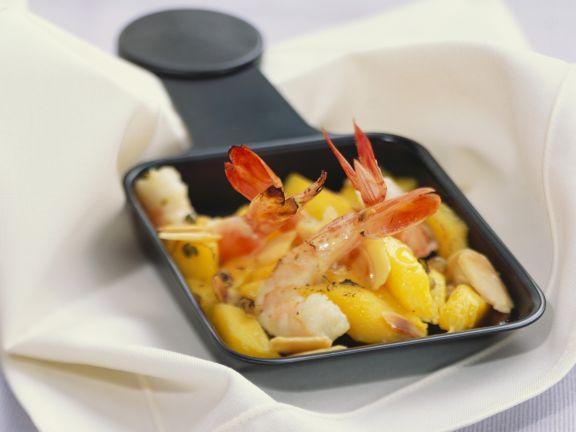 raclette mit mango und garnele rezept eat smarter. Black Bedroom Furniture Sets. Home Design Ideas