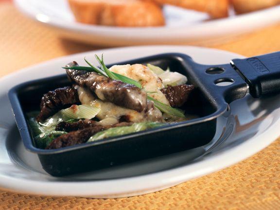 Raclette mit Rinderfilet