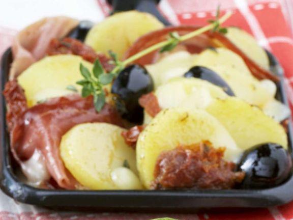 Raclette mit Schinken