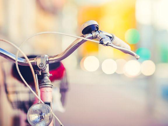 Schönes altes Damenrad in der Nahaufnahme