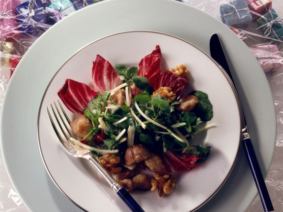 Radicchio-Brunnenkresse-Salat