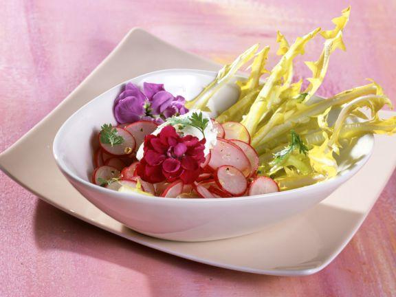 Radieschen-Löwenzahn-Salat