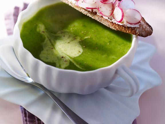 Radieschenblattsuppe