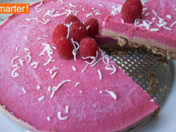 Raw Cake mit Himbeeren