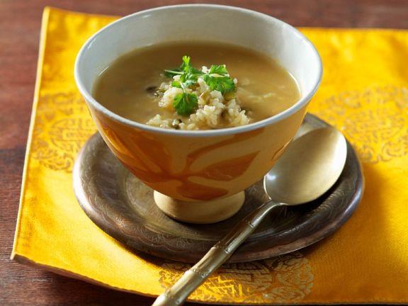 Reis-Bohnensuppe