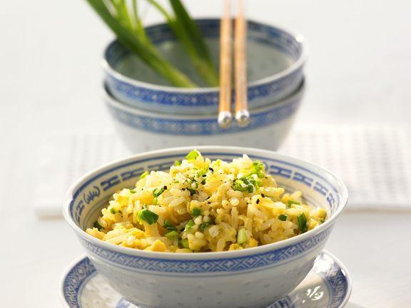 Reis mit Ei gebraten
